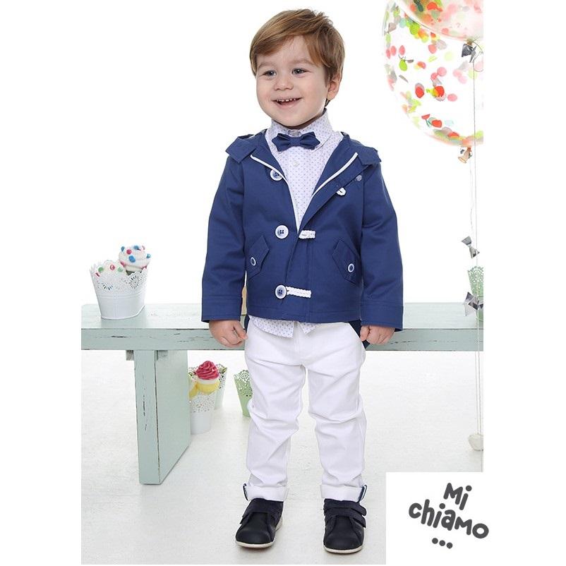 b27bd0acf6c Βαπτιστικό Κοστούμι MiChiamo Α4061 ΡΑΦ-ΛΕΥΚΟ