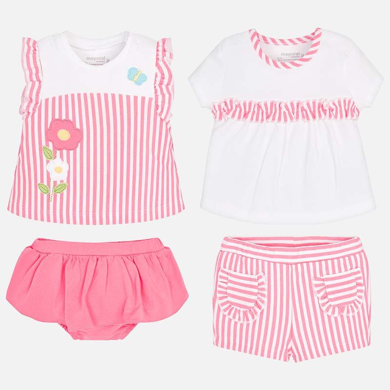 067ccca3494 Mayoral 1605 Σετ μπλούζες και παντελόνια κοντά νεογέννητο κορίτσι