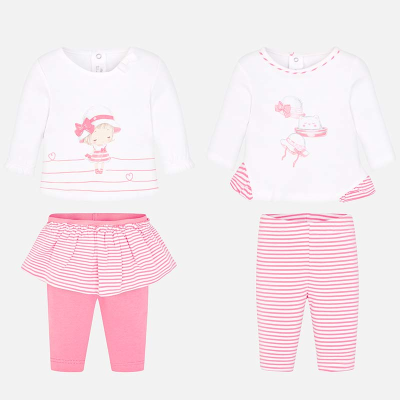 d79df5dc12f Mayoral 1607 Σετ μπλούζες και παντελόνια μακριά νεογέννητο κορίτσι