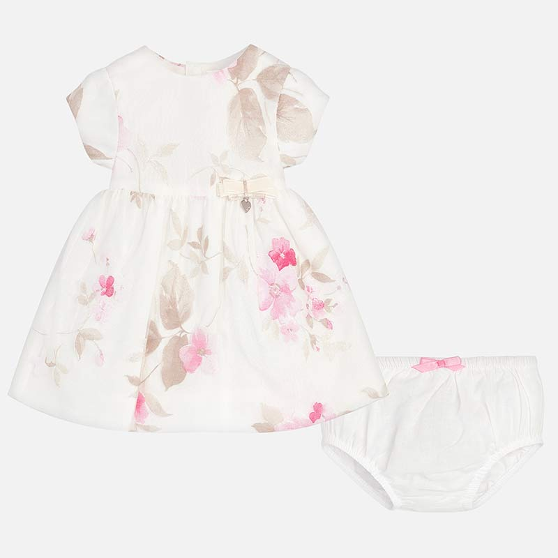 405a89352c8 Mayoral 1821 Φόρεμα λουλούδια με βρακάκι νεογέννητο κορίτσι