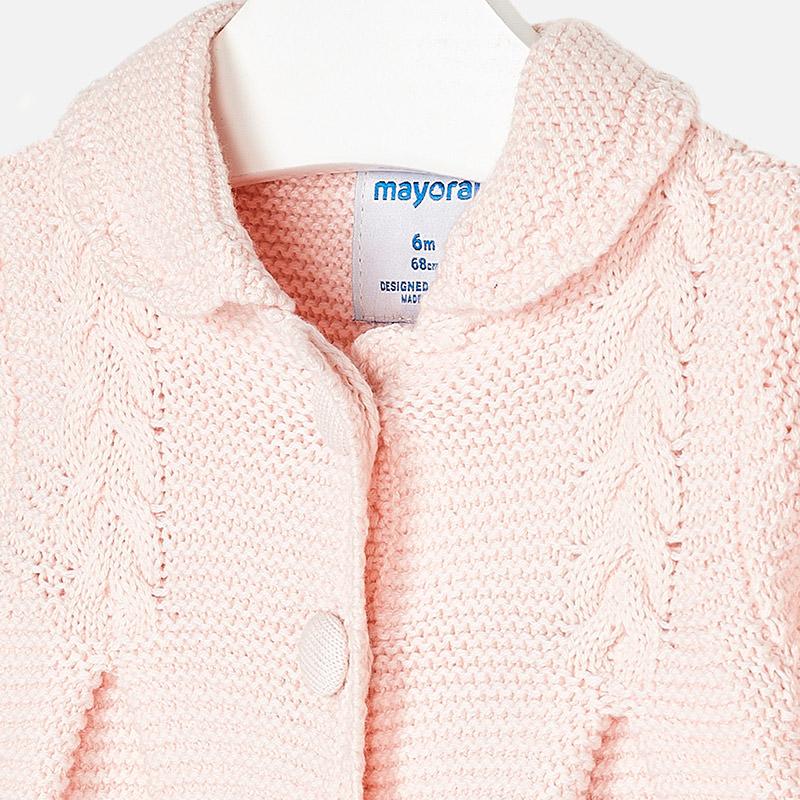 da8dc9c4269 Mayoral 2476 Παλτό πλεκτό για μωρό κορίτσι