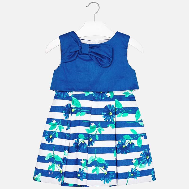 Mayoral 3923 Φόρεμα συνδυασμένο ρίγες κορίτσι f109ffdcf62