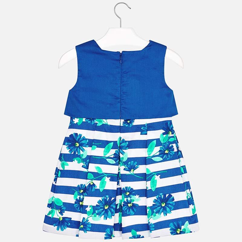 273a975dfea3 Mayoral 3923 Φόρεμα συνδυασμένο ρίγες κορίτσι