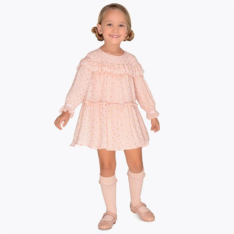 Mayoral 4932 Φόρεμα γάζα φαντασία για κορίτσι 69e32802713
