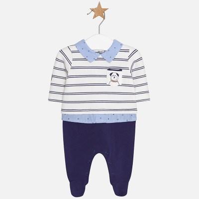 4d80b61b07c Mayoral 2608 Φορμάκι φούτερ ριγέ για μωρό αγόρι
